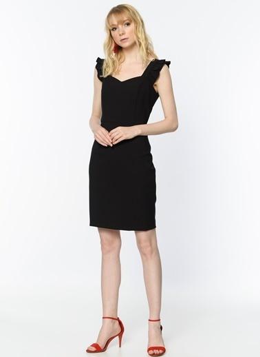 Random Askılı Kalem Elbise Siyah